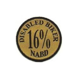 16% Disabled Biker Patch
