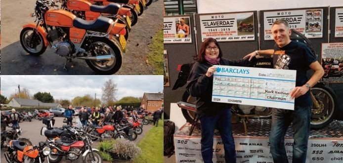 Laverda Owners Cheque Presentation